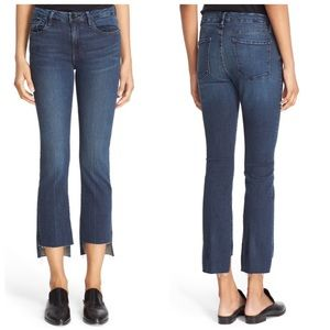 Frame Denim Le Crop Mini Boot Raw Stagger Jean